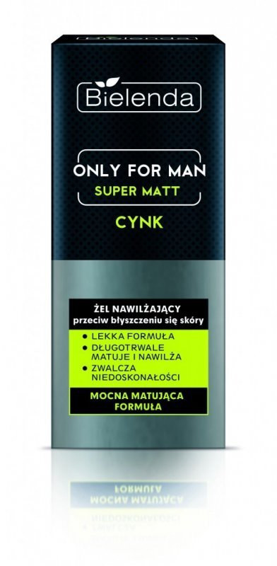 Bielenda Only for Man Super Matt Żel nawilżający przeciw błyszczeniu się skóry  50ml