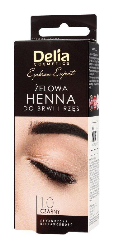 Delia Cosmetics Henna do brwi żelowa 1.0 czarna  1op