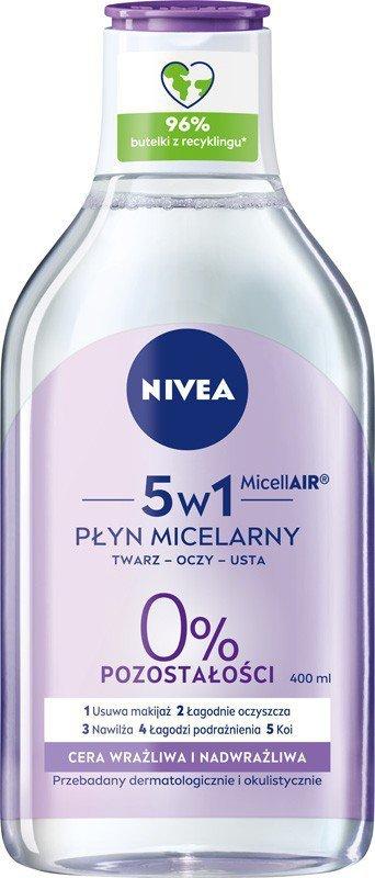 Nivea Sensitive Płyn micelarny 3w1 do cery wrażliwej  400ml
