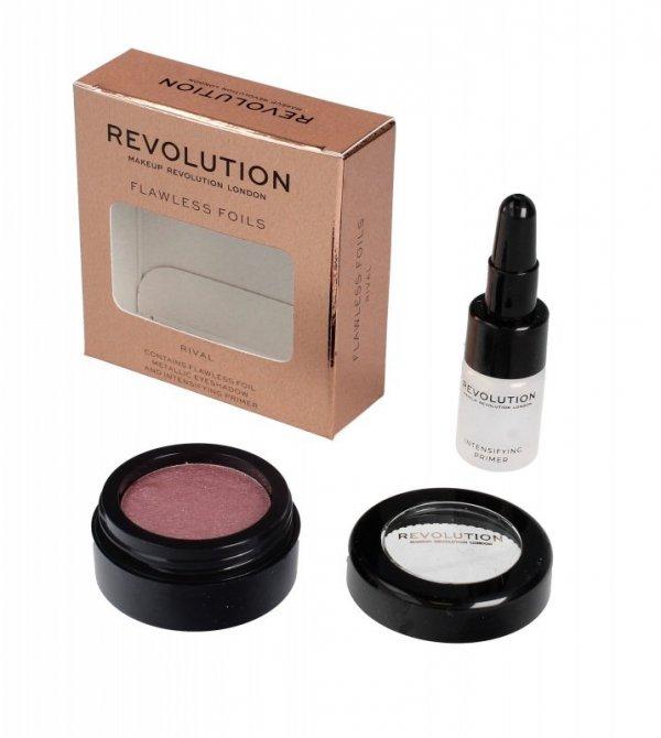 Makeup Revolution Flawless Foils Cień do powiek metaliczny+baza Rival  1op.