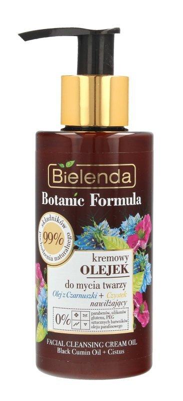 Bielenda Botanic Formula Olej z Czarnuszki+Czystek Kremowy Olejek przeciwzmarszczkowy do mycia twarzy  140ml
