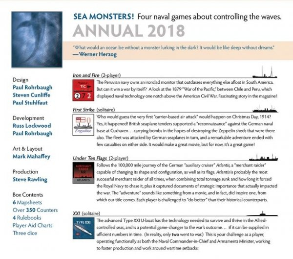 Against the Odds Annual 2018 - Sea Monsters!
