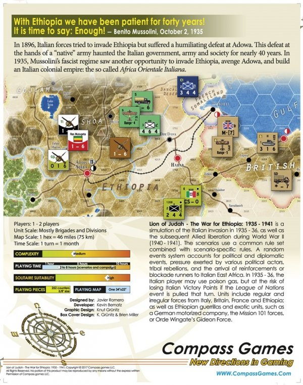 Lion Of Judah: The War For Ethiopia 1935-1941 (USZKODZONY)