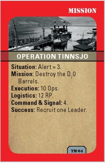 Mini-Game Heroes of Telemark: Commando Raids in Norway, 1942-43