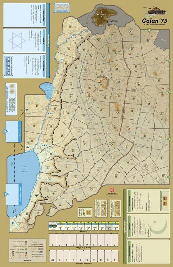 FAB: Golan'73 - Mounted Mapboard