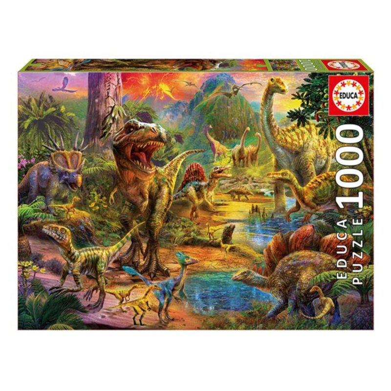 układanka puzzle Dinosaur Land Educa (1000 pcs)