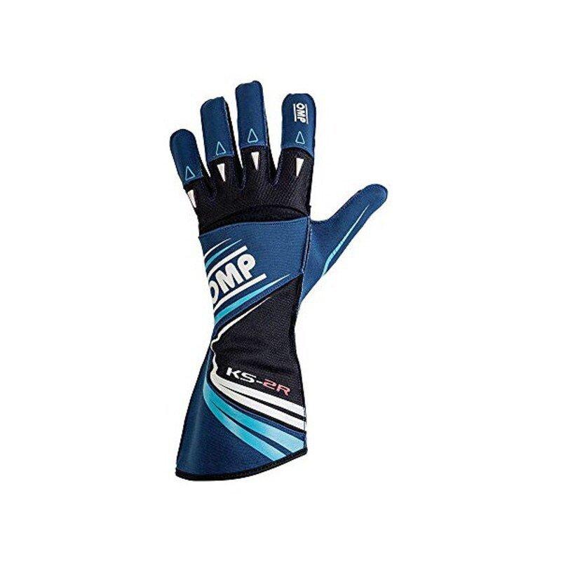 Rękawiczki do jazdy dla dzieci OMP KS-2R Niebieski