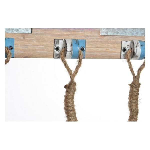 Wieszak ścienny DKD Home Decor Drewno Metal (60 x 3 x 30 cm)