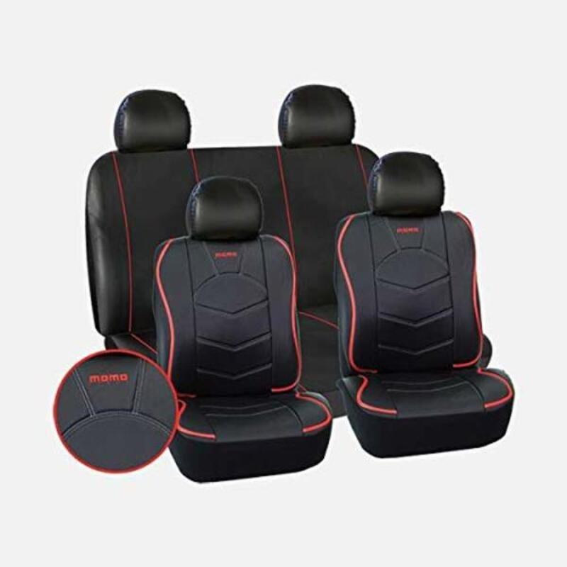Zestaw Pokrowców Samochodowych Momo 018 Czarny Uniwersalny (10 pcs)