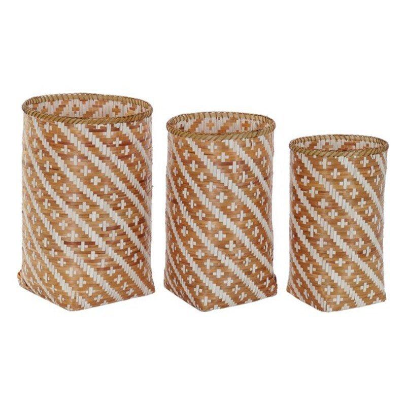zestaw koszyków DKD Home Decor Far Boho Natural Bambus Boho (3 pcs)