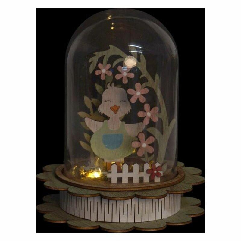 Lampa DKD Home Decor zwierzęta LED (2 pcs) (14 x 14 x 18 cm)