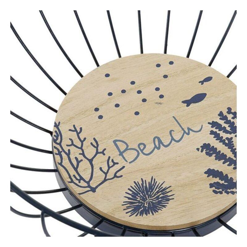 Dekoracja na Stół DKD Home Decor Beach Śródziemnomorski drewno i metal (28 x 12 cm)