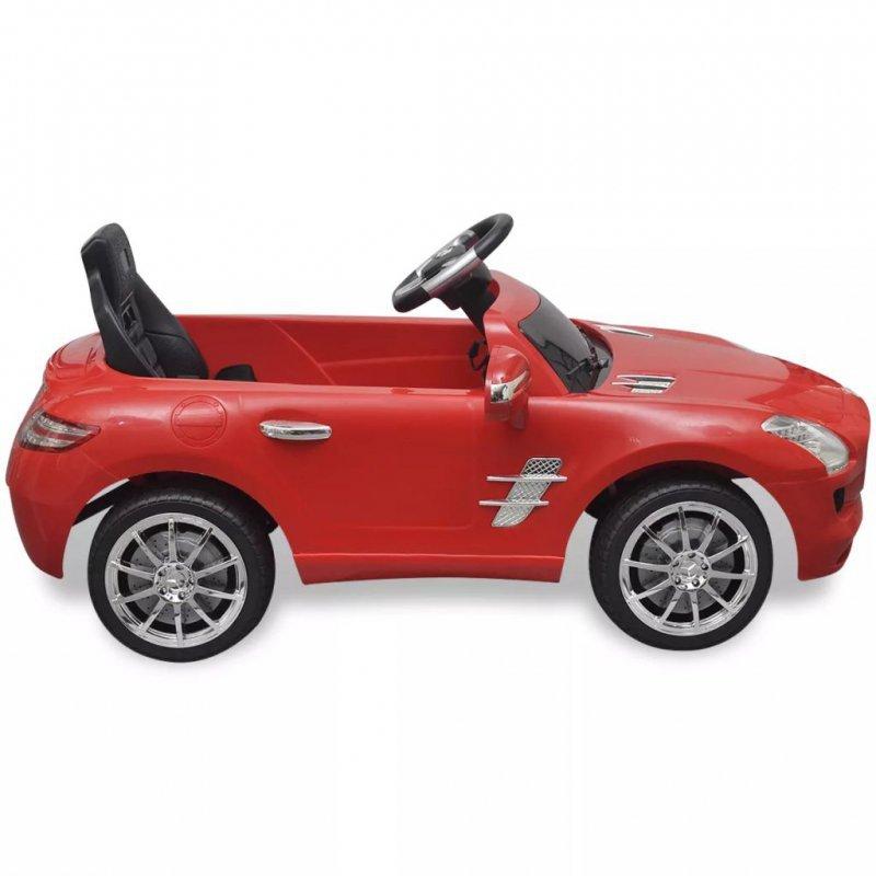 Samochód elektryczny dla dzieci Czerwony Mercedes Benz SLS 6V + pilot