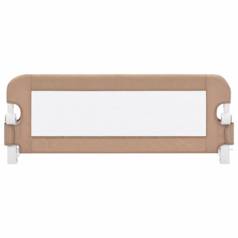 Barierka do łóżeczka dziecięcego, taupe, 102x42 cm, poliester