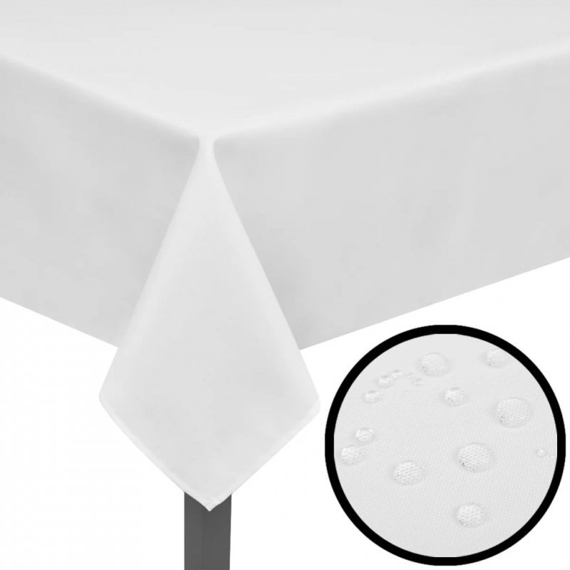 5 Białych obrusów 190 x 130 cm