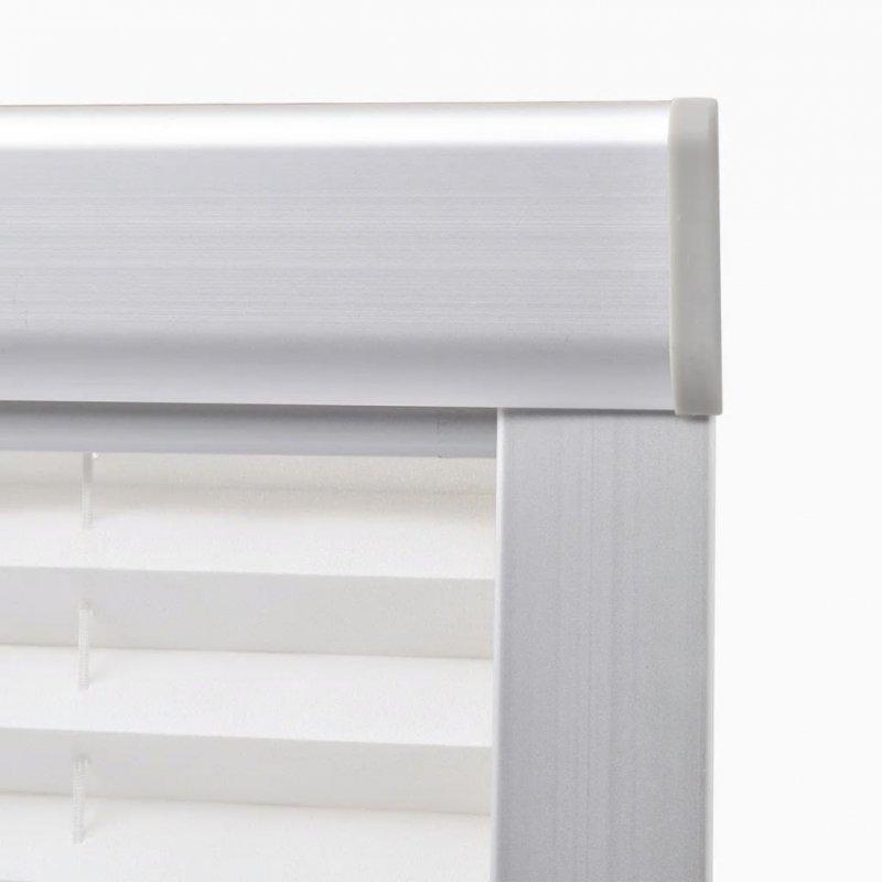 Roleta plisowana, biała, 104