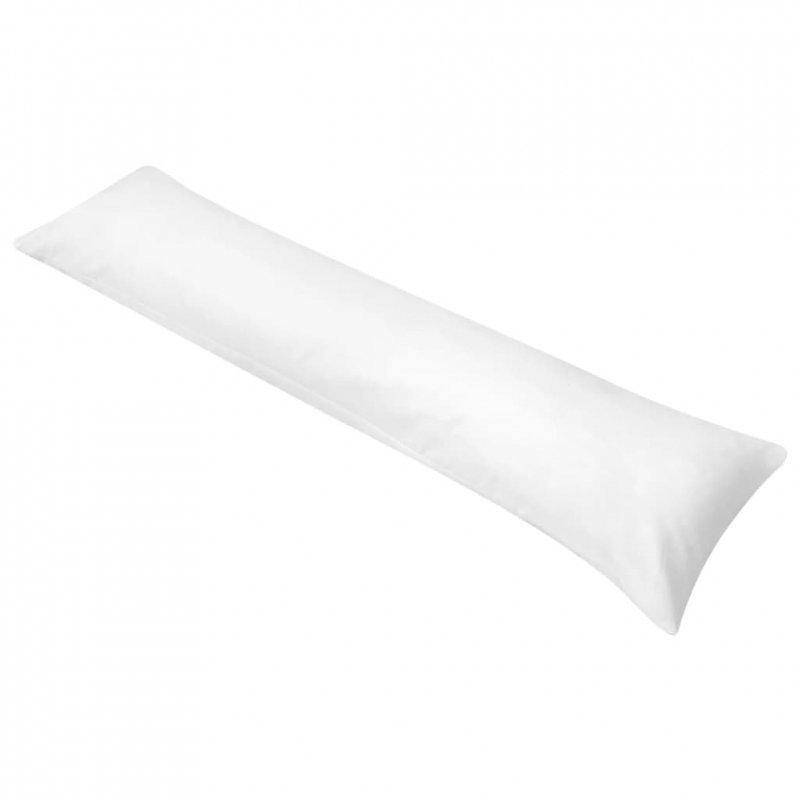 Poduszka pod całe ciało do spania na boku, 40x145 cm, biała