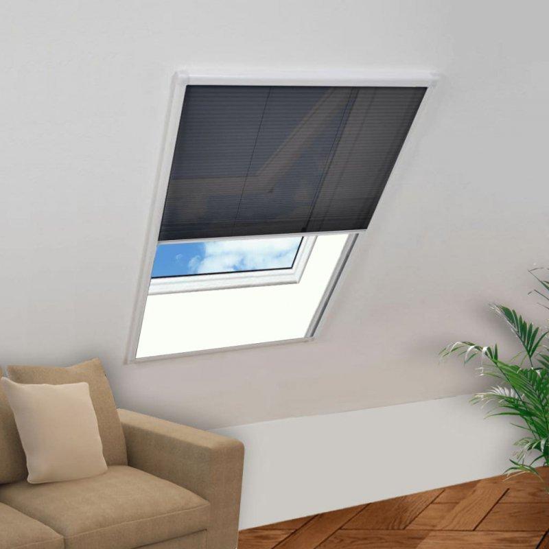 Plisowana moskitiera okienna, aluminium, 100 x 160 cm