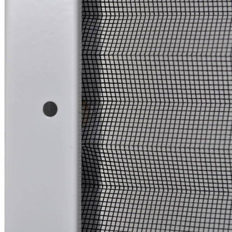 Plisowana moskitiera okienna, aluminium, 120 x 160 cm