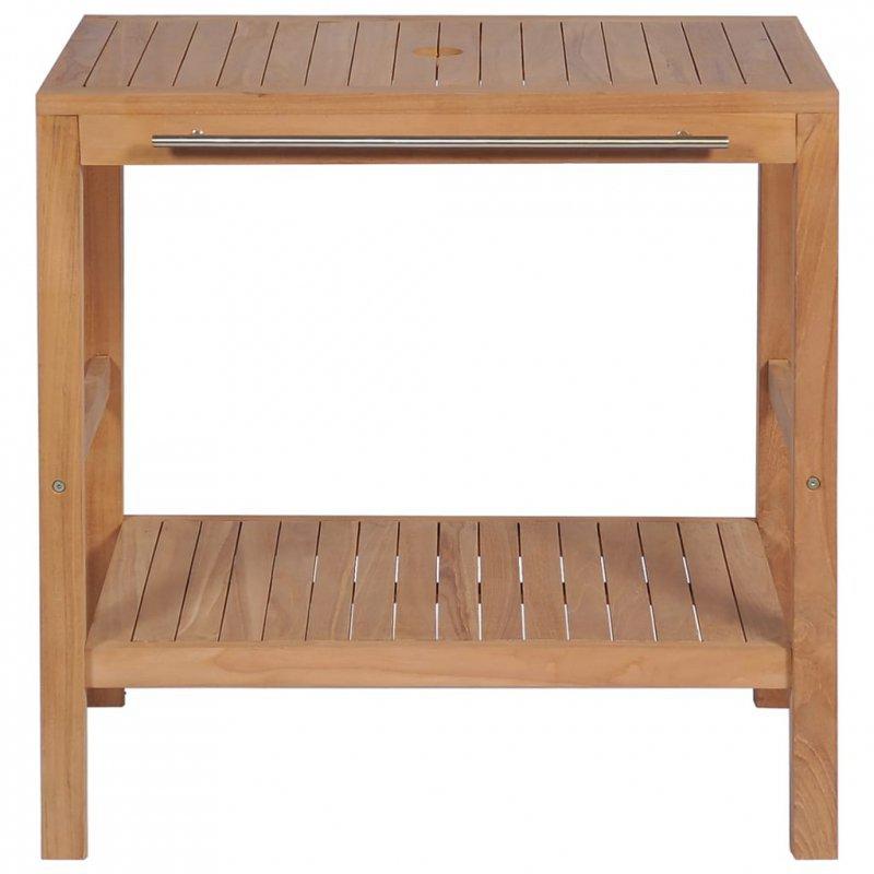 Szafka łazienkowa pod umywalkę, lite drewno tekowe, 74x45x75 cm