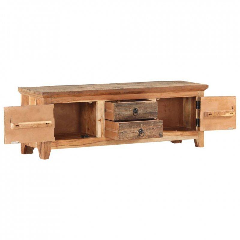 Szafka pod TV, 120x30x40 cm, lite drewno akacjowe i odzyskane