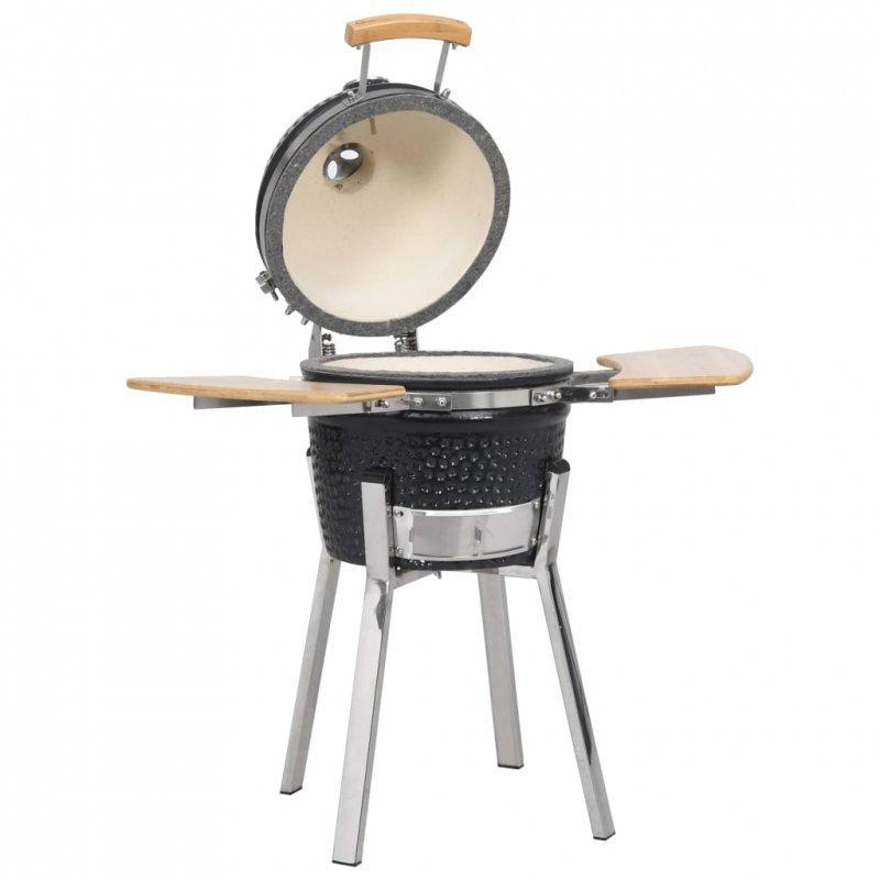 Ceramiczny grill Kamado z wędzarnią, 81 cm