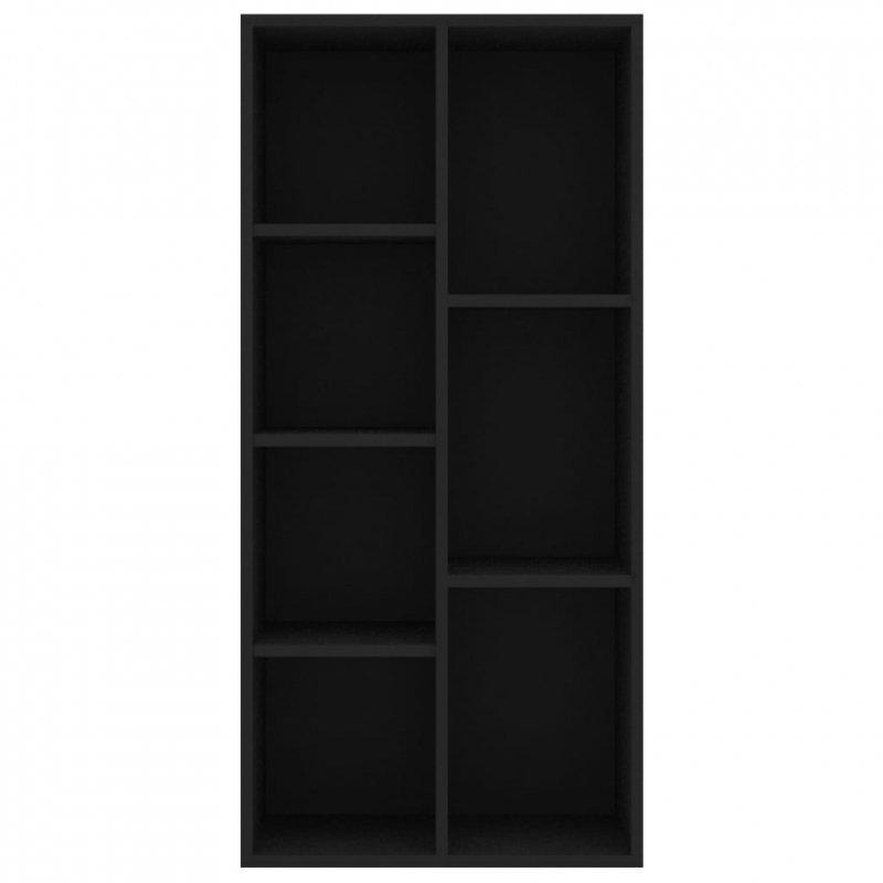 Regał na książki, czarny, 50x25x106 cm, płyta wiórowa