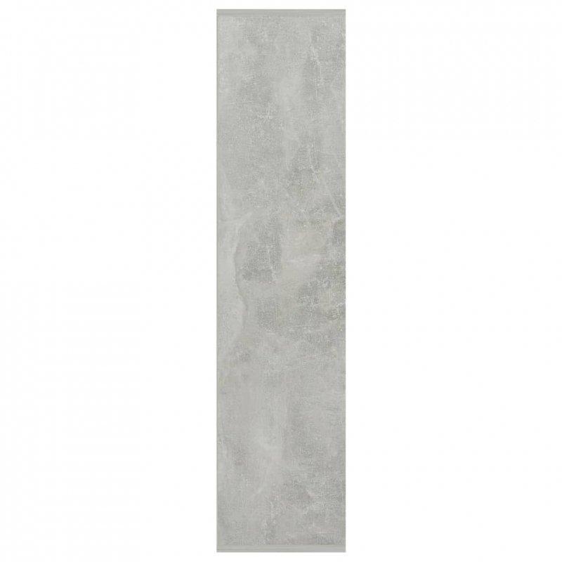 Regał na książki, betonowa szarość, 50x25x106 cm