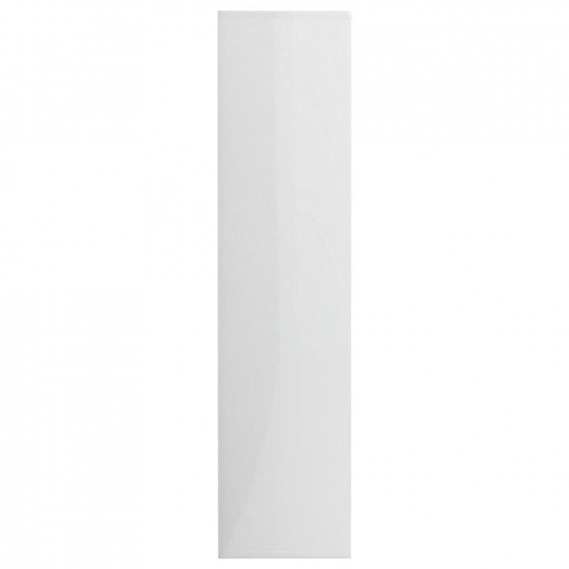 Regał na książki, wysoki połysk, biały, 50x25x106 cm