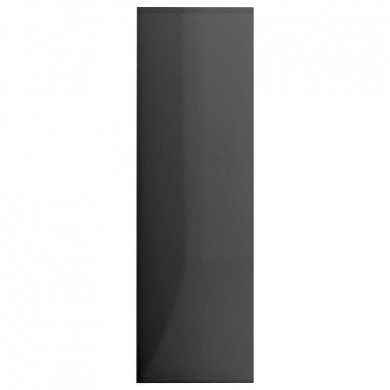 Regał, szary na wysoki połysk, 98x30x98 cm, płyta wiórowa
