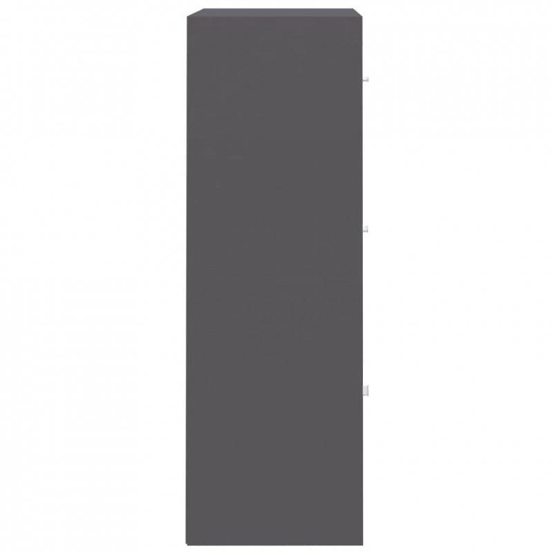 Szafka, szara, 60x29,5x90 cm, płyta wiórowa