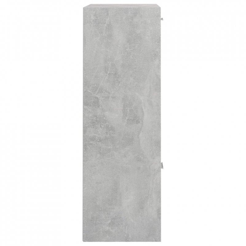 Szafka, betonowa szarość, 60x29,5x90 cm, płyta wiórowa