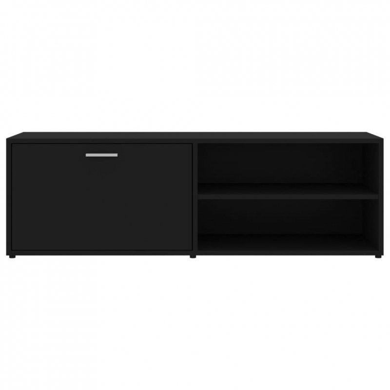 Szafka pod TV, czarna, 120x34x37 cm, płyta wiórowa