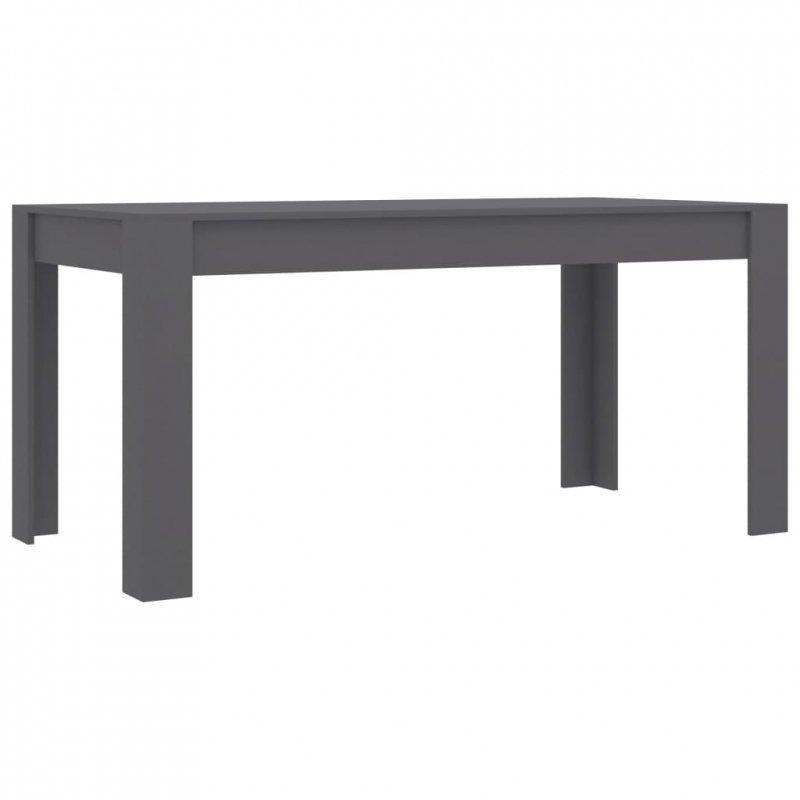 Stół jadalniany, szary, 160x80x76 cm, płyta wiórowa