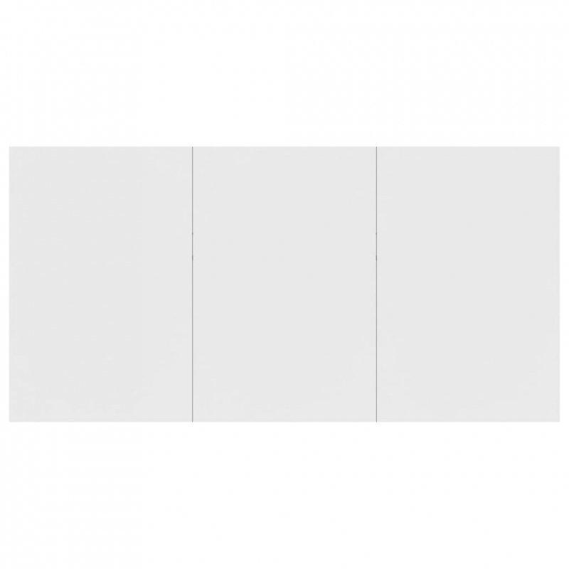 Stół jadalniany, biały, 180x90x76 cm, płyta wiórowa