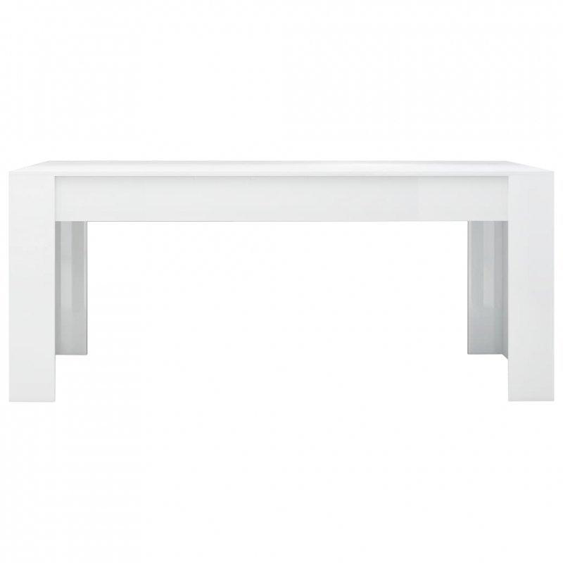 Stół na wysoki połysk, biały, 180x90x76 cm, płyta wiórowa