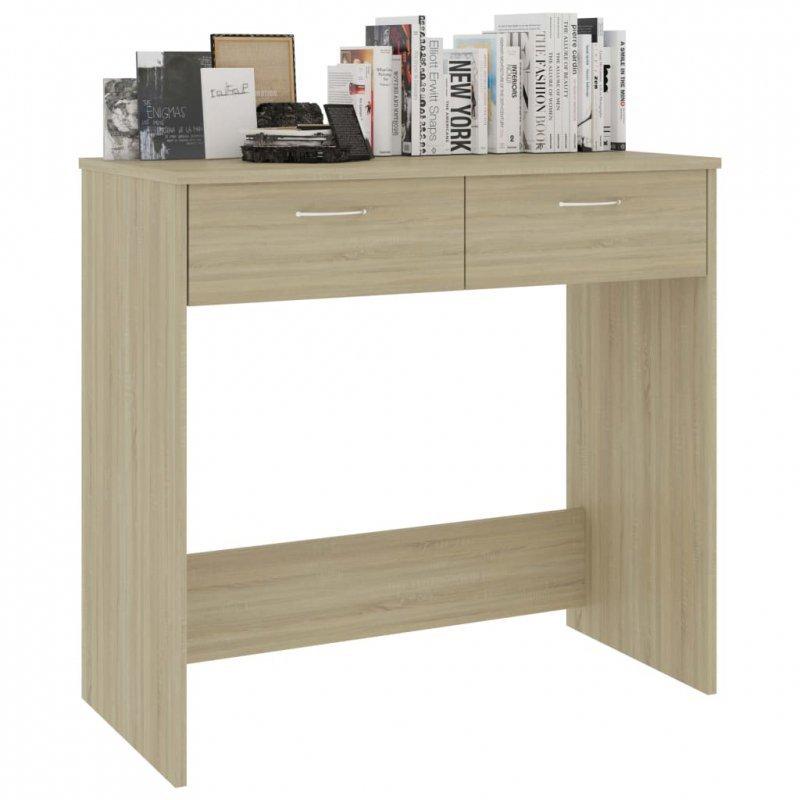 Biurko, kolor dąb sonoma, 80x40x75 cm, płyta wiórowa