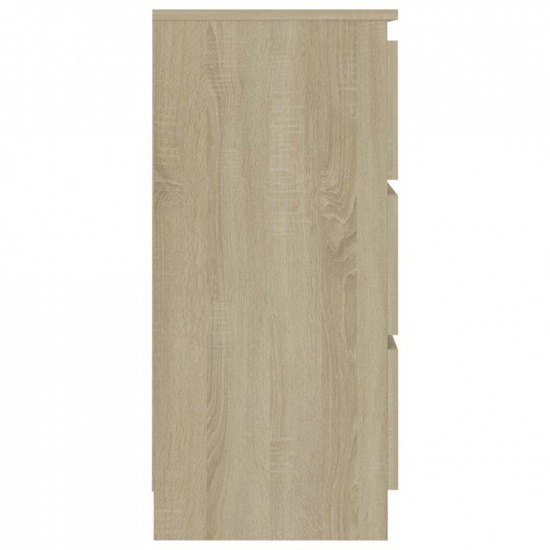 Komoda, dąb sonoma, 60x35x76 cm, płyta wiórowa