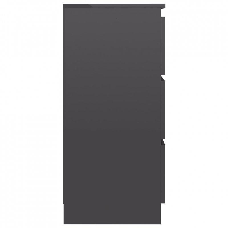 Komoda szara na wysoki połysk, 60 x 35 x 76 cm, płyta wiórowa