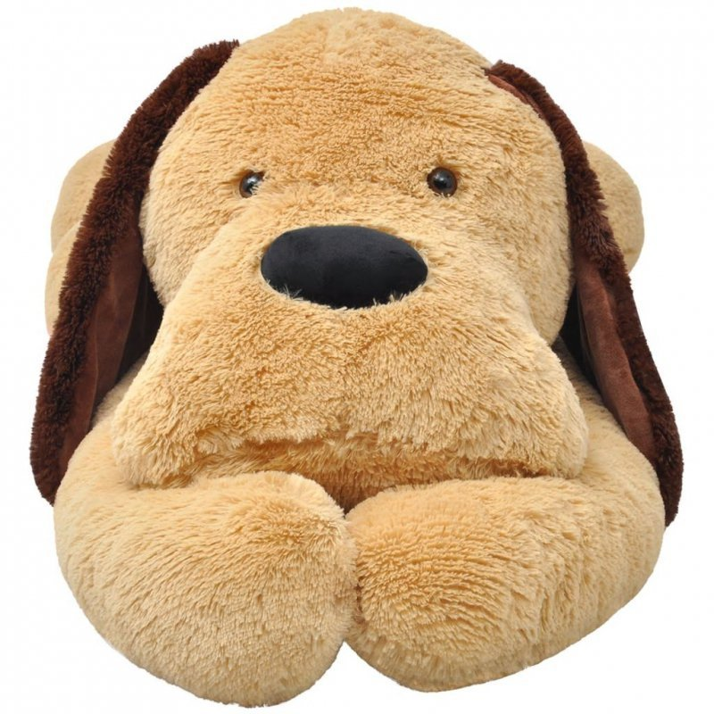 Pluszowy piesek przytulanka 160 cm, brązowy