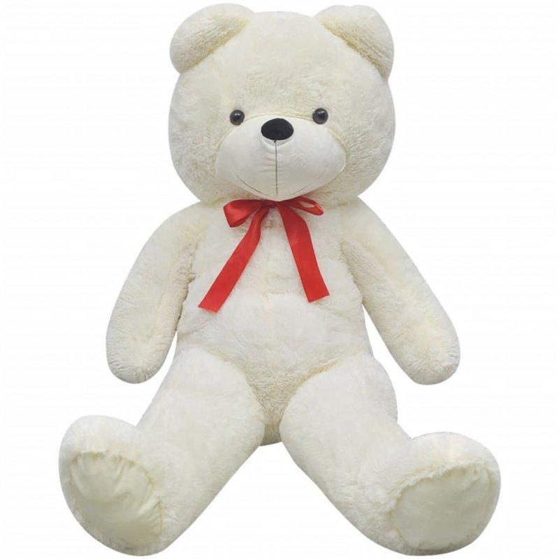 Pluszowy miś przytulanka, biały, 170 cm