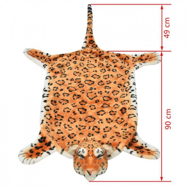 Pluszowy dywanik - lampart, 139 cm, brązowy