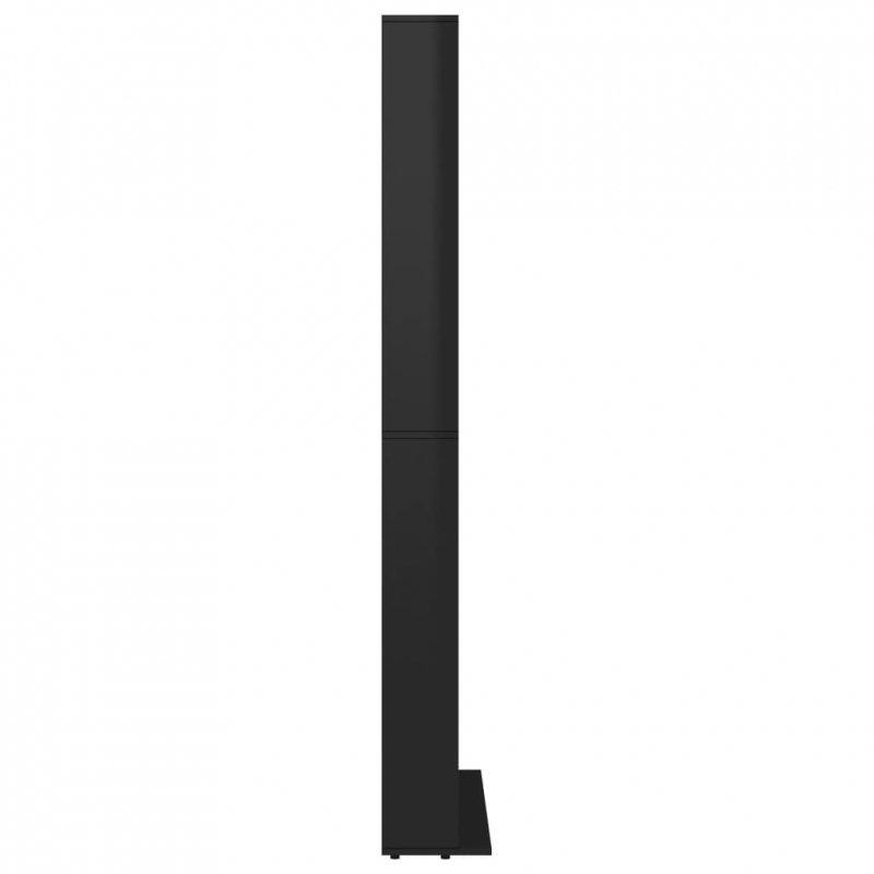 Szafka na płyty CD, wysoki połysk, czarna, 102 x 23 x 177,5 cm