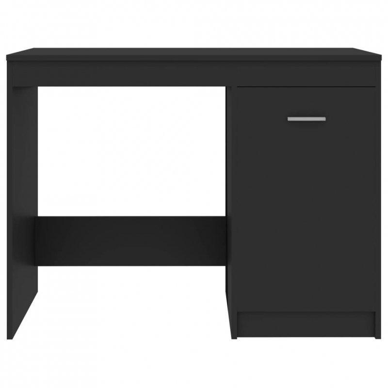 Biurko, szare, 100x50x76 cm, płyta wiórowa