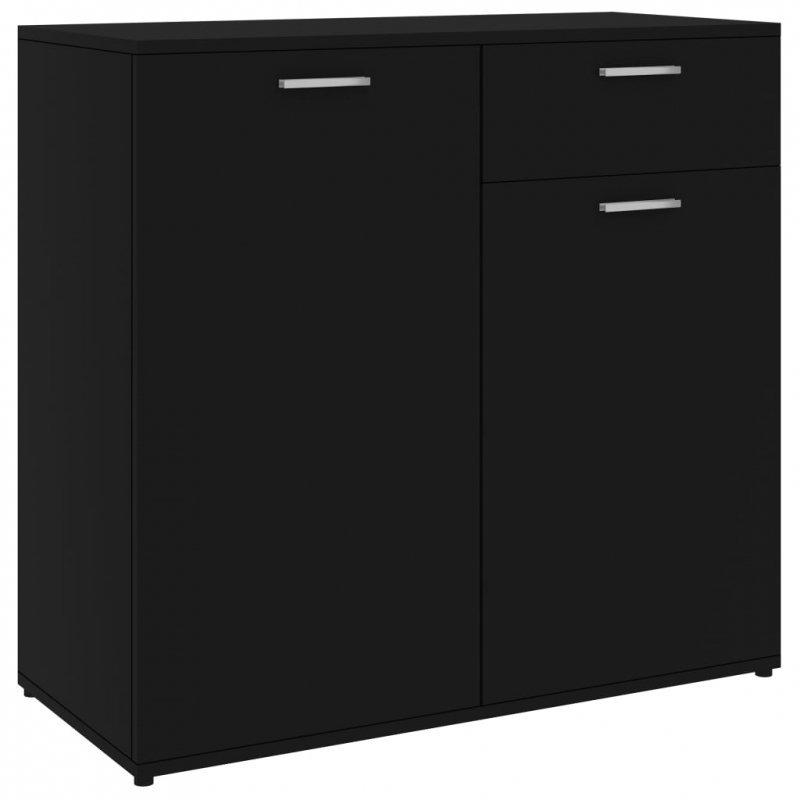 Szafka, czarna, 80x36x75 cm, płyta wiórowa