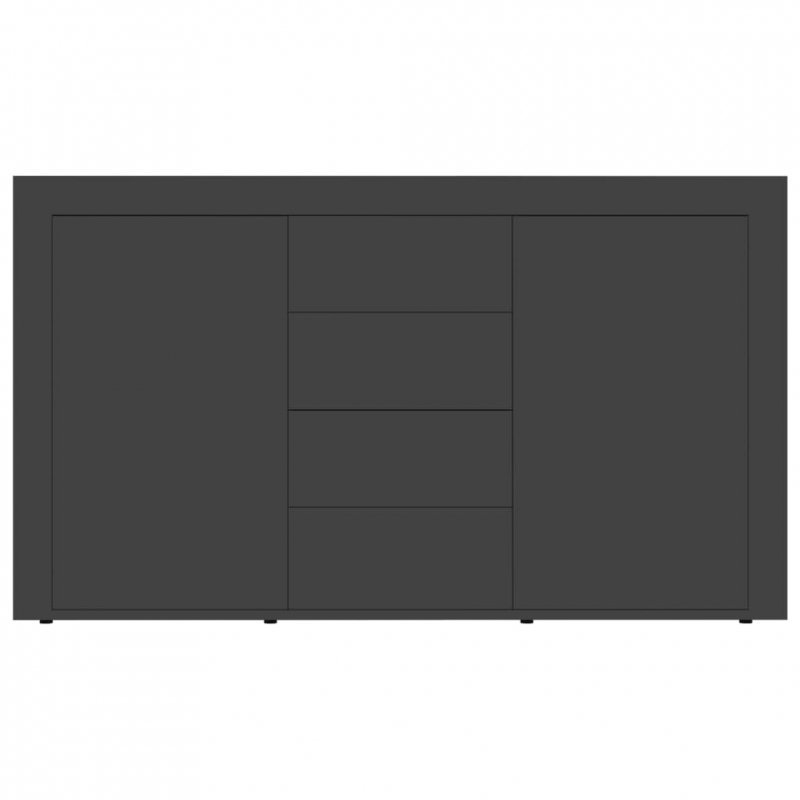 Komoda, szara, 120x36x69 cm, płyta wiórowa