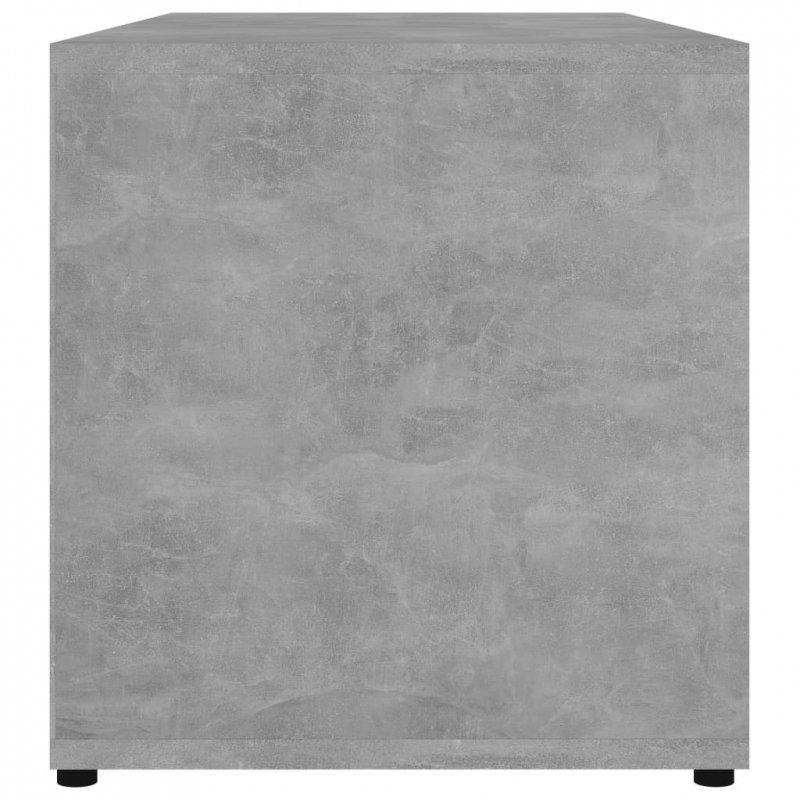 Szafka pod TV, szarość betonu, 80x34x36 cm, płyta wiórowa