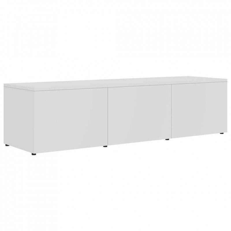 Szafka pod TV, biała, 120x34x30 cm, płyta wiórowa