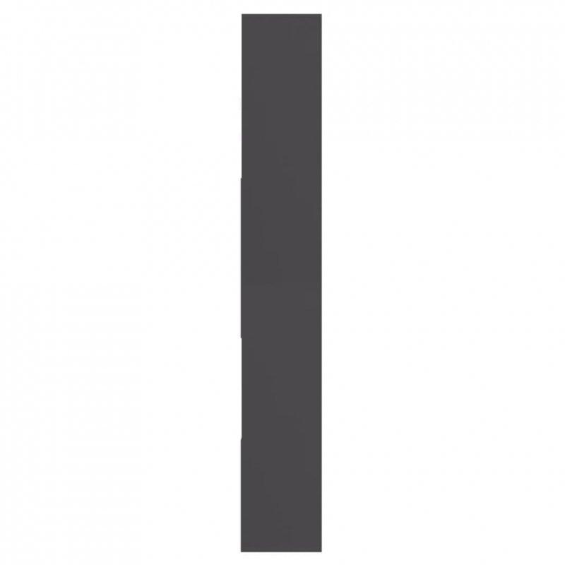 Regał na książki, szary, 67x24x161 cm, płyta wiórowa