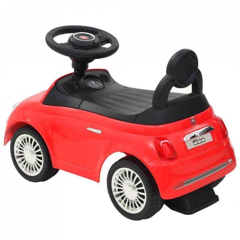 Samochód jeździk Fiat 500, czerwony